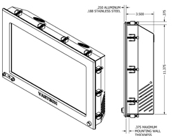 Panel with Clips Mechanical Drawing